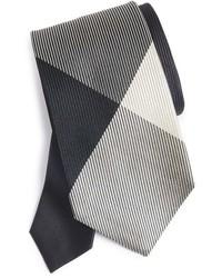 Burberry Texture Check Silk Skinny Tie