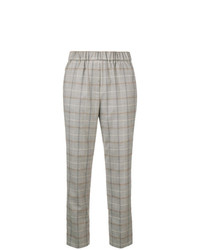 Peserico Plaid Cropped Trousers