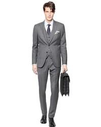 Grey Check Three Piece Suit