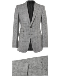 Tom Ford Grey Slim Fit Checked Mohair Silk And Wool Blend Three Piece Suit