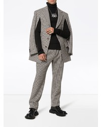 Gucci Check Slit Wool Cashmere Blend Jacket