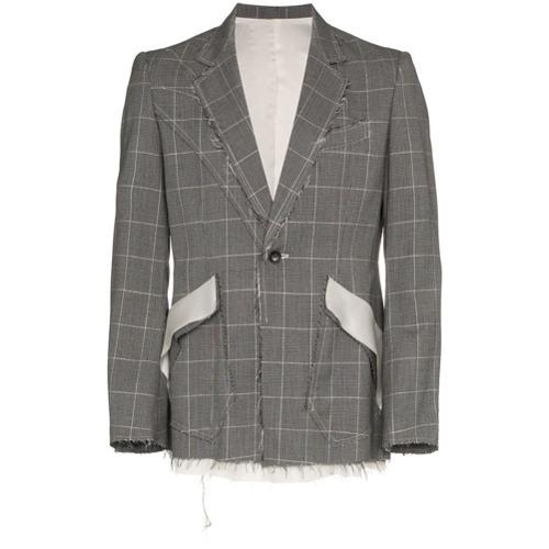 Sulvam Checkered Short Wool Jacket