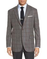 Peter Millar Flynn Classic Fit Windowpane Wool Sport Coat