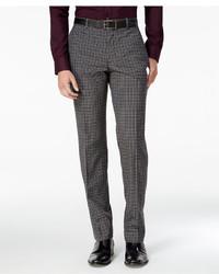 Bar III Slim Fit Charcoal Check Dress Pants Only At Macys