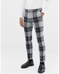 Twisted Tailor Super Skinny Suit Trouser With Bold Wool