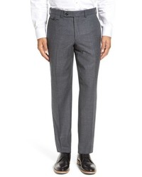 Ted Baker London Columbus Flat Front Check Wool Trousers