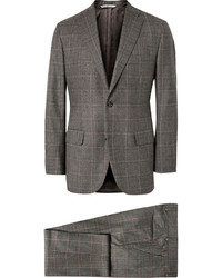 Freemans Sporting Club Grey Checked Wool Three Piece Suit