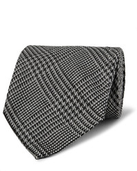 85cm prince of wales checked silk tie medium 855343