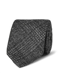 Thom sweeney 8cm checked wool silk and cashmere blend tie medium 855344