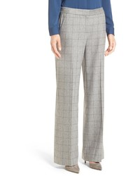 Classiques Entier Windowpane Wool Cashmere Blend Trousers