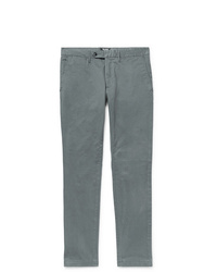 Todd Snyder Charcoal Slim Fit Stretch Cotton Twill Chinos