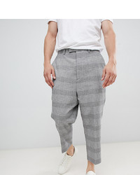 Heart & Dagger Extreme Drop Crotch Tapered Trouser In Grey Jacquard