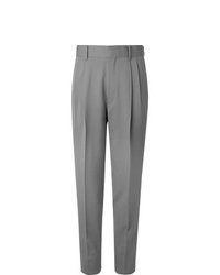 The Row Grey Eric Pleated Virgin Wool Trousers