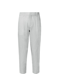 Theory Page Tapered Stretch Cotton Seersucker Trousers