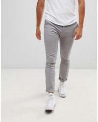 ASOS DESIGN Skinny Chinos In Light Grey