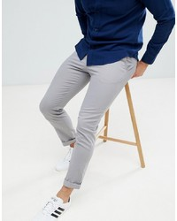 ASOS DESIGN Slim Chinos In Light Grey