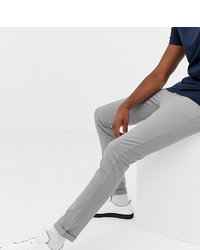 ASOS DESIGN Tall Slim Chinos In Light Grey