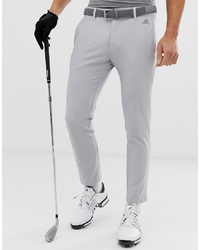 ADIDAS GOLF Ultimate 365 3 Stripe Tapered Trousers In Grey
