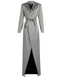 Balmain Belted Satin Coat