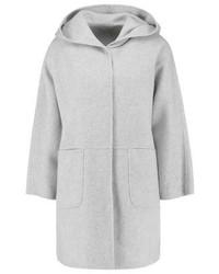 Max Mara Domino Short Coat Light Grey