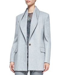 Halston Heritage Draped Collar 1 Button Coat