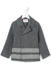 Il Gufo Striped Hem Coat