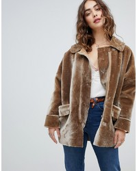 Free People Lindsay Faux Sherpa Coat