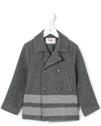 Il Gufo Striped Hem Coat