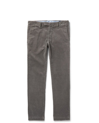 Polo Ralph Lauren Grey Cotton Blend Corduroy Trousers