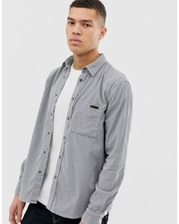 Nudie Jeans Co Sten Cord Shirt In Ash Grey