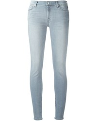 7 For All Mankind Crystal Detail Skinny Jeans
