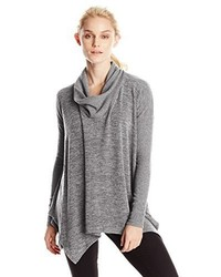 Mod-o-doc Ls Cowl Neck Pullover Sweater Wrib Slv