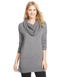 Side slit cowl neck tunic medium 390211
