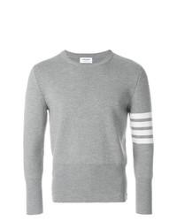 Thom Browne 4 Bar Stripe Milano Stitched Merino Crewneck Pullover