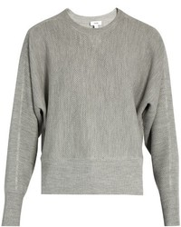 Vince Crew Neck Wool And Silk Blend Sweater