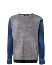 DSQUARED2 Denim Sleeve Jumper