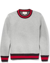 Stripe trimmed cotton sweatshirt medium 657048