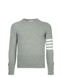 Thom Browne Striped Print Fitted Sweater