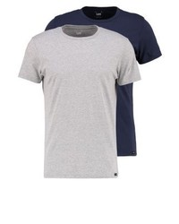 2 pack basic t shirt bluemottled grey medium 4157189