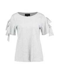 Couture bow print t shirt medium heather grey medium 4242436