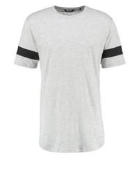 Onsmatt print t shirt light grey melange medium 4162052