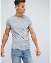 ASOS DESIGN Organic T Shirt With Crew Neck In Grey Marl