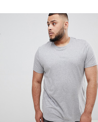 ASOS DESIGN Plus Organic T Shirt With Crew Neck In Grey Marl