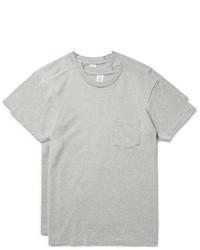 Velva Sheen Two Pack Cotton Blend Jersey T Shirts