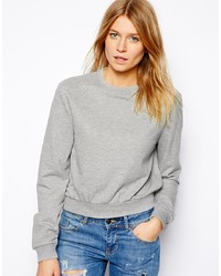 Asos Cropped Boyfriend Sweatshirt