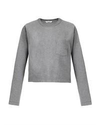 T by dolman sleeve cropped sweatshirt medium 184453
