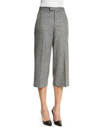 RED Valentino Wide Leg Tweed Capri Pants