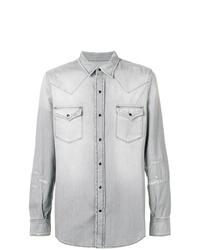 Saint Laurent Western Style Denim Shirt