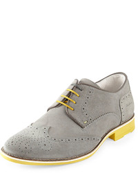Grey Derby Shoes