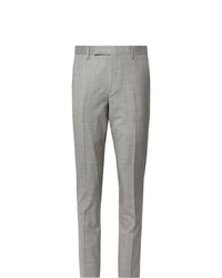 Paul Smith Light Grey Slim Fit Mlange Wool Suit Trousers